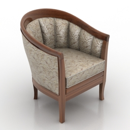 Armchair classic 3d gsm model free
