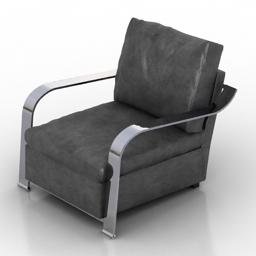 Armchair grey 3d model