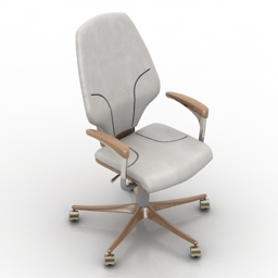 Armchair office 3d model free