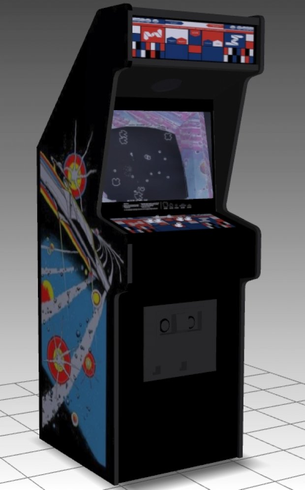 Asteroids Upright Arcade Machine 3D model