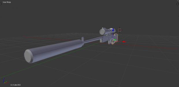 Battlefield 4 sniper 3D model