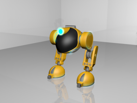 Biped Rigged 3D model