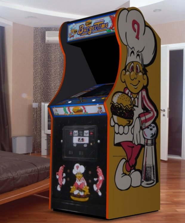 Burger Time Upright Arcade Machine Downloadfree3d Com