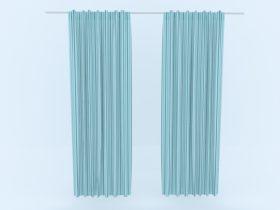 Curtain 3d skp model