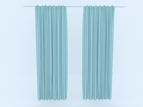 Curtain 3d skp model