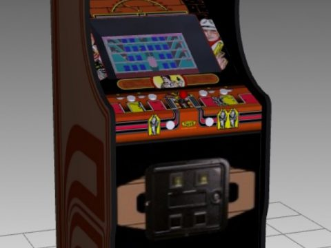 Elevator Action Upright Arcade Machine 3D model