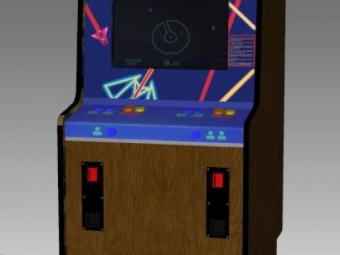 Eliminator Upright Arcade Machine 3D model