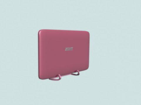 Flat smart TV Pink 3D model