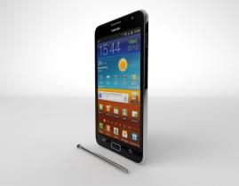 Galaxy NOTE 2 3D model