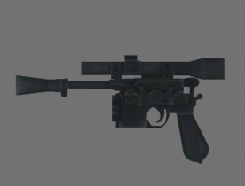 Han solo pistol 3D model