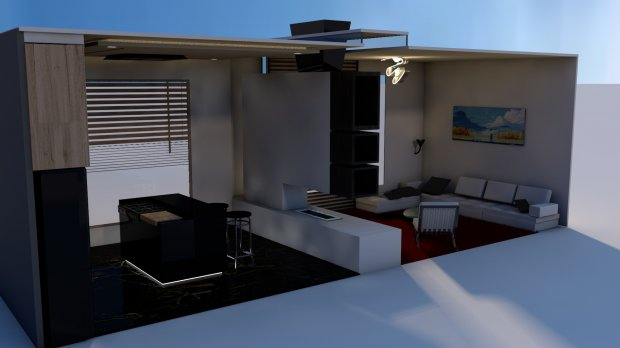 Kitchen & Livingroom 3D model