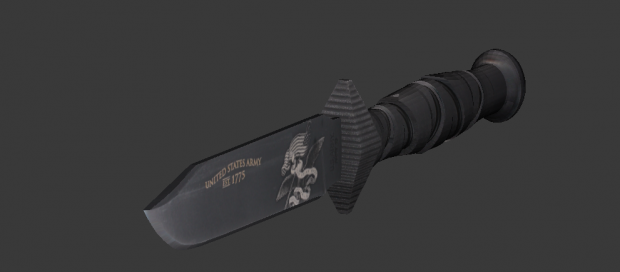 Knife US Army 3D model