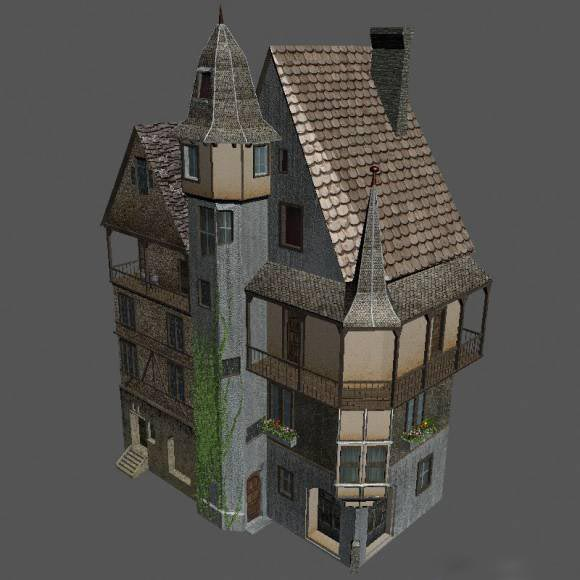 Medieval House Downloadfree3d Com