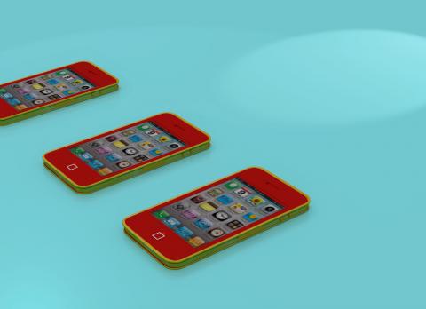 Mobile phone 3D model