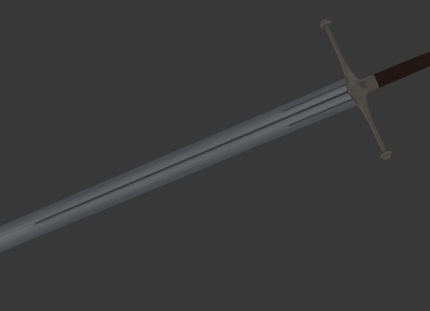 Ice Ned Stark Sword Retextured 3D model