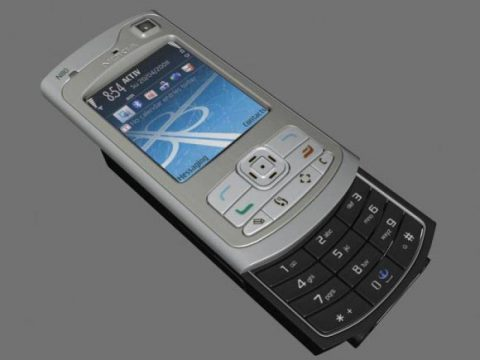Nokia N80 mobile phone 3D model