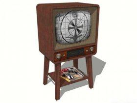 Old Television Set 3D model