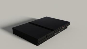 Playstation 2 Slim 3D model