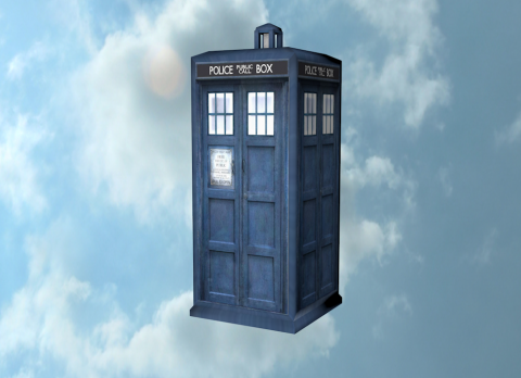 Police phone booth Tardis 3D model