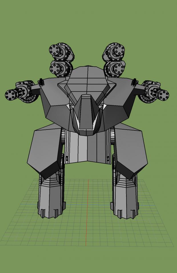 Rhino 3D war robot