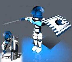 Robot Swordsman 3D model