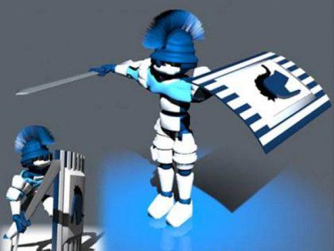 Robot Swordsman 3D model