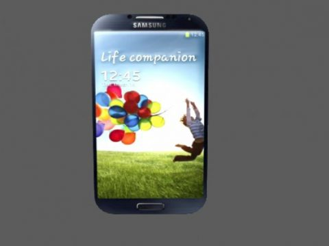 Samsung S4 Mobile Phone 3D model