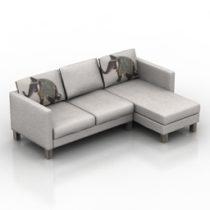 Sofa Ikea carlstad 3d model download