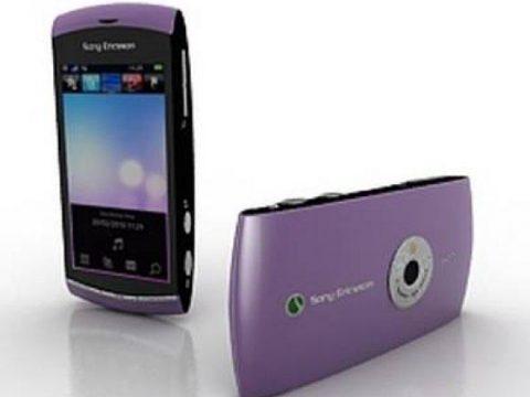 Sony Ericsson Vivaz mobile phone 3D model