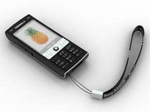 Sony Ericsson W810 mobile phone 3D model