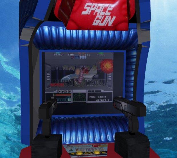 Space Gun Upright Arcade Machine Free 3d Models