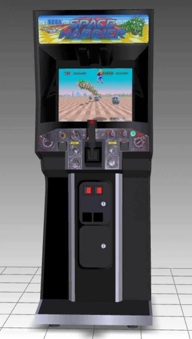 Space Harrier Upright Arcade Machine Free 3d Models