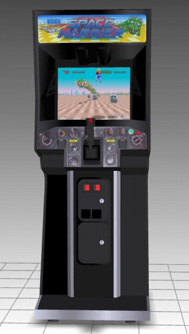 Space Harrier Upright Arcade Machine | DownloadFree3D.com