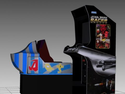 Star Wars Pod Racer Sitdown Arcade Machine 3D model