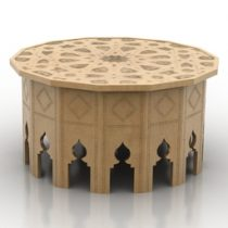 Table arabian 3d model