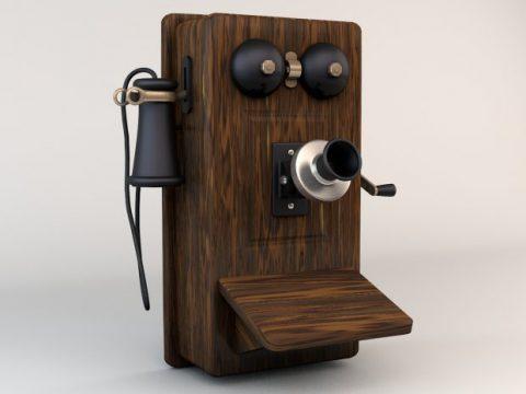 Telephone 3D model