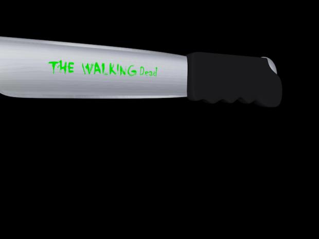 The Walking Dead Custom Knife 3D model