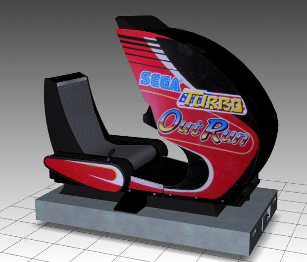 Turbo Outrun Sitdown Arcade Machine   Free 3D models