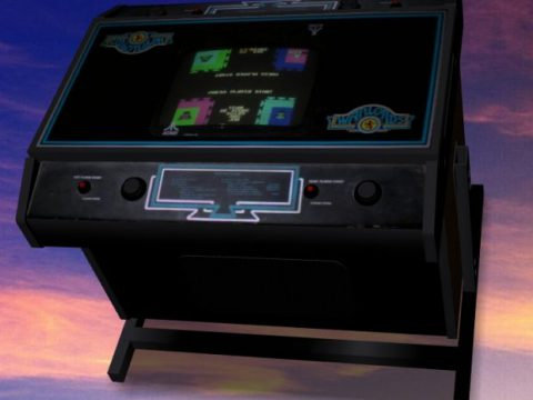 Warlords Cocktail-table Arcade Machine 3D model