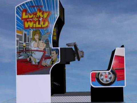 Lucky & Wild Sitdown Shooter Arcade Game 3D model
