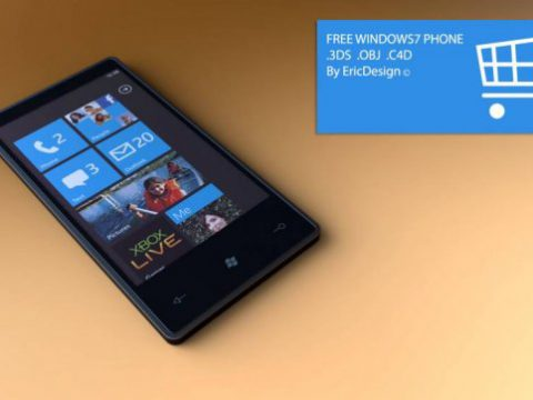 Windows 7 Phone 3D model