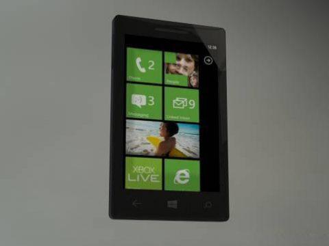 Windows Phone 8 3D model