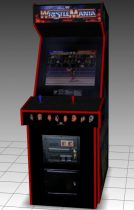 Wrestle Mania WWF Upright Arcade Machine