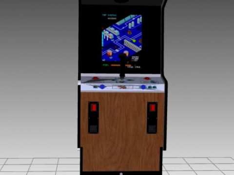 Zaxxon Upright Arcade Machine 3D model