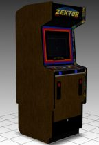 Zektor Upright Arcade Machine 3D model