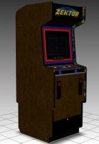 Zektor Upright Arcade Machine 3D model