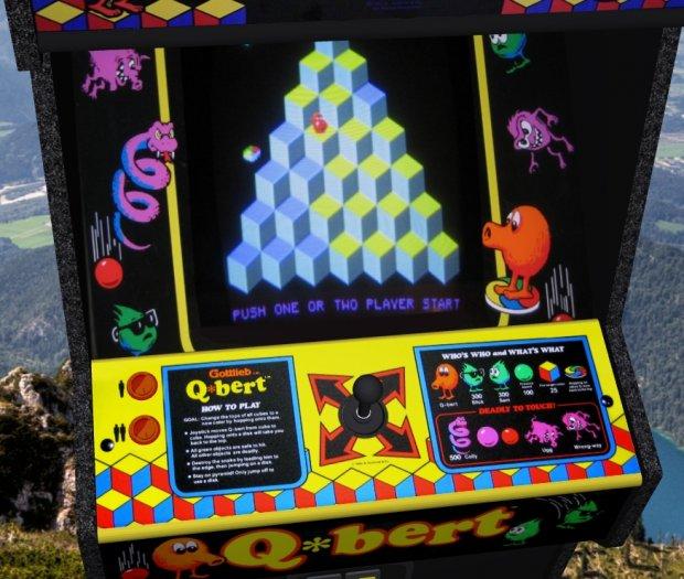 Q Bert Upright Arcade Machine Free 3d Models