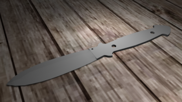 Classic knife 3D model