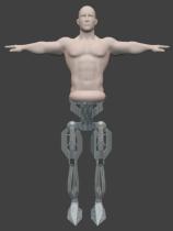 Half man half robot 3D model