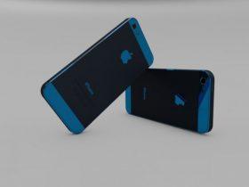iPhone 5 Blue 3D model
